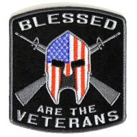 Blessed Are The Veterans American Flag Spartan Patch