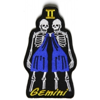 Gemini Skull Zodiac Sign Patch