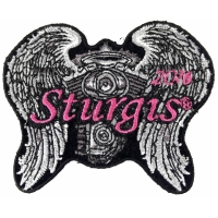 Sturgis 2016 Motorcycle Rally Patch Angel Wings