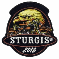Sturgis 2016 Motorcycle Rally Patch Eagle and Motorcycle