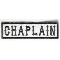Chaplain Patch Black On White
