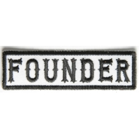 Founder Patch Black On White