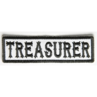 Treasurer Patch Black On White