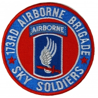 173rd Airborne Brigade Patch Sky Soldiers