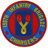 196th Infantry Brigade Patch Chargers