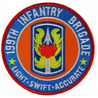 199th Infantry Brigade Patch Light Swift Accurate