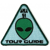 Area 51 Tour Guide Patch Alien Head