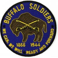 Buffalo Soldiers Patch We Can We Will Read And Forward