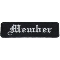 Member Patch In Old English