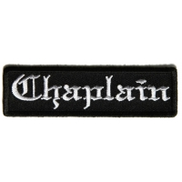 Chaplain Patch In Old English