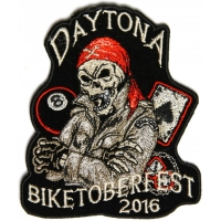 Daytona Biketoberfest 2016 Biker Rally Skull Patch