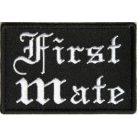 First Mate Patch In Old English
