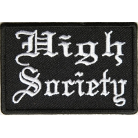High Society Patch In Old English | Embroidered Pot Patches