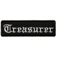 Treasurer Patch In Old English