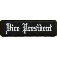 Vice President Patch In Old English
