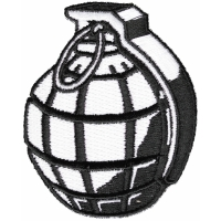Black And White Hand Grenade Patch