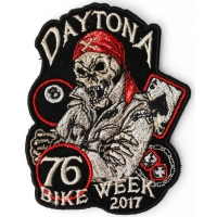 Daytona 2017 Bike Week Biker Skull Patch