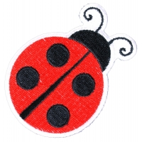 Lady Bug Iron On Patch