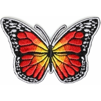 Orange Butterfly Iron On Patch