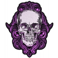 Purple Skull Large Back Patch