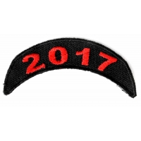 2017 Red Upper Rocker Patch