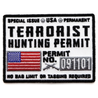 Terrorist Hunting Permit White Patch