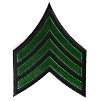 Sergeant Chevron Green Black Patch