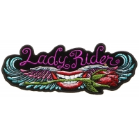 Lips and roses Lady Rider Patch