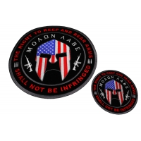 2nd Amendment Spartan Helmet Patch Set Of Small And Large