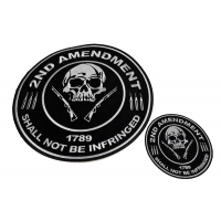2nd Amendment Support Patches 2 Piece Small And Large Round Patch