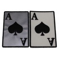 Ace Of Spades Patches Black White And Reflective 2 Patch Deal