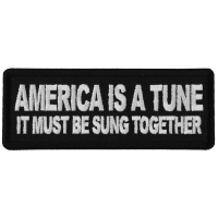 America is a Tun it must be Sung Together Patch
