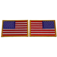 American Flag Patch Set Regular And Reversed Patches