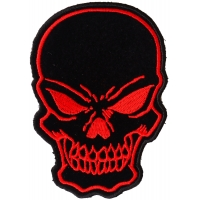 Black and Red Skull Patch