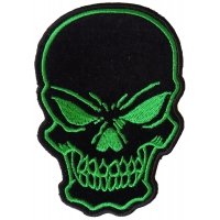 Black Green Skull Patch