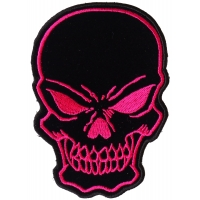 Black Pink Skull Patch