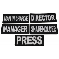 Business Costume Director Manager Shareholder Manager Press Man in Charge Patches