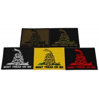 Don't Tread On Me Patches Set Of 5 Colors Small Embroidered Gadsden Flags