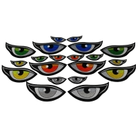 Eye Patches Mega Pack set of 5 colors in 2 sizes each 20 Patches
