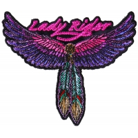 Lady Rider Wings and Feather Small Patch