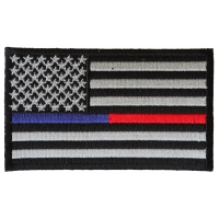 Law Enforcement And Firefighter Support American Flag Patch