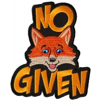 No Fox Given Funny Patch
