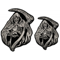 Reaper Skull Small and Medium set of 2 Patches