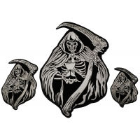 Reaper Skull Small Medium and Large set of 3 Patches