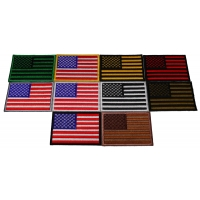 Set of 10 American Flag Patches in Various Colors