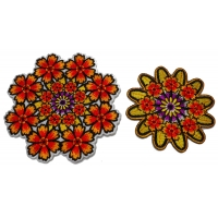 Set of 2 Kaleidoscope Flower Patches