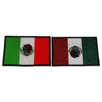 Set of 2 Mexican Flag Patches in Color