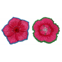 Set of 2 Pink Flower Patches