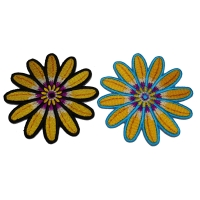 Set of 2 Small 3 inch Flower Petal Patches