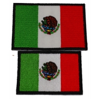 Set of 2 Small Size Mexican Flag Patches